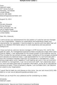 customer service cover letter cover letter exles customer service manager effective resume