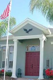 House Decorations Outside Wall Mounted Metal Eagle