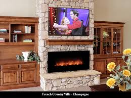 French Country Fireplace - french country villa manufactured stone champagne fireplaces