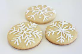 snowflake cookies how to make snowflake christmas cookies pear tree
