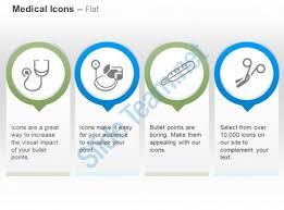 stethoscope thermometer scissor blood pressure test ppt icons