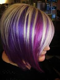 short hairstyles with peekaboo purple layer blonde and purple highlights on brown hair google search short