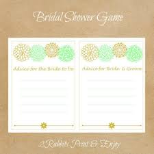 Advice For Bride And Groom Cards Mint Green And Gold Advice For Bride To From 2rabbitsprintenjoy