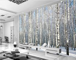 online get cheap snow forest murals wallpaper aliexpress com