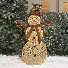 Outdoor Lighted Snowman Decorations by Holiday Time Christmas Decor 42