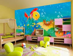 wallpapers for kids bedroom kids room wallpaper decorating cartoon sea homescorner com