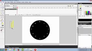 membuat jam digital dengan flash tutorial membuat jam dinding di macromedia flash 8 youtube