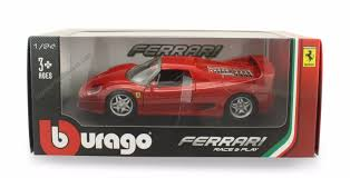 toy ferrari model cars bburago race u0026 play ferrari f50 1 24 scale diecast model red ebay