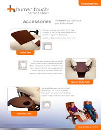 Human Touch Perfect Chair Perfect Chair Accessories Extending Footrest For Pc 6 Human