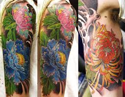 Male Flower Tattoos - fashion female and have fun asian flower tattoos