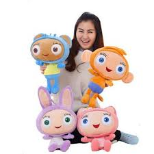 bbc cartoon waybuloo 3d plush dolls soft stuffed toys pp