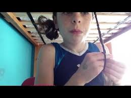 gymnastics picture hair style easy gymnastics hairstyle youtube