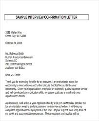 confirmation letter template 15 free sample example format