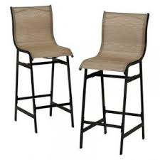 Patio Bar Chairs Outdoor Sling Bar Stools Foter
