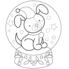 free printable snow globe coloring pages bltidm