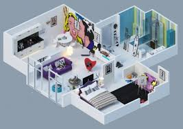 Apartment Layout Design Awesome 3d Plans For Apartments Home Design Garden