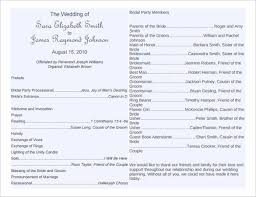 sle of wedding reception program wedding programs wording templates free finding wedding ideas