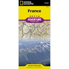 Map France by France Adventure Map National Geographic Store
