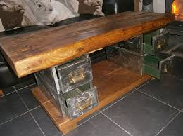 Rustic File Cabinet Urban Vintage Industrial Rustic Filing Drawers Coffee Table The