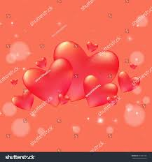 valentines day background decorative hearts soft stock vector