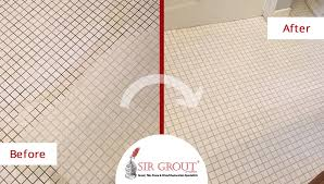 Bathroom Grout Cleaner A Grout Cleaning Service Revamped The Appearance Of This