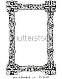 celtic decorative knot frame black and white vector decoration