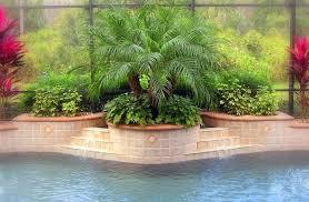 Pool Landscaping Ideas Greenery In Raised Planters Behind Pool Outdoors Pinterest