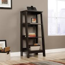sauder trestle 5 shelf bookcase jamocha wood hayneedle