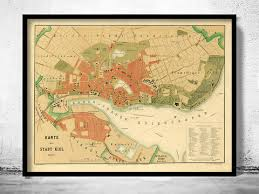 map of kiel germany collection maps and vintage prints