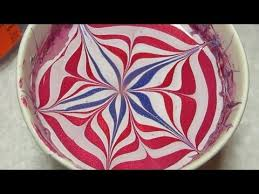 4th of july water marble nail art tutorial youtube
