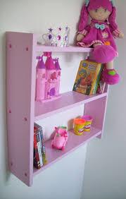 Pink Childrens Bookcase 60cm Childrens Shelves Girls Pink Bedroom Shelves Shelf
