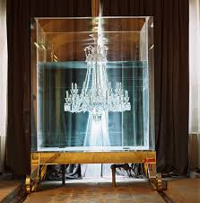 baccarat maison baccarat paris chandelier in a water tank