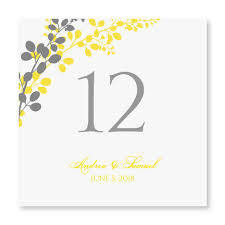 wedding table numbers template glacier grey and yellow wedding seating plans