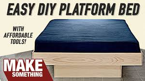 Diy Platform Bed Project How To Make A Platform Queen Bed Diy Project Youtube