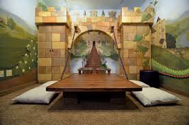 Interior Design Top Cinderella Themed Castle Playroom Complete With Wall Mural And Door Youdreamit
