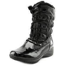 khombu womens boots sale khombu toe patent leather black winter boot
