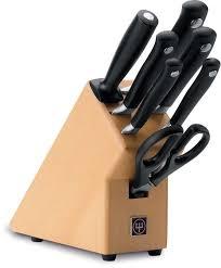 100 kitchen knives block set 16 pc triple rivet knife block