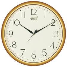wall watch ajanta quartz golden ring plastic wall clock 497 28cm x 28cm ivory