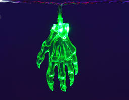 10 x green monster hands halloween lights