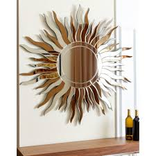hang this artistic wall mirror in the space of your choice to add