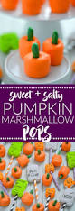 sweet and salty pumpkin marshmallow pops what the fork