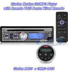 clarion m475 cmrc1 bss m475 cmrc1bss marine cd mp3 player with