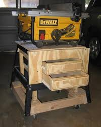 wood table saw stand portable table saw stand by jerrells lumberjocks com