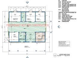 Floor Plan With Roof Plan Home Plans Horse Barn With Apartment Floor Plans Barn Plans