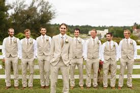 also a great looking group of guys fall rustic backyard wedding