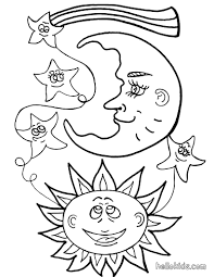 sun and moon coloring pages hellokids com