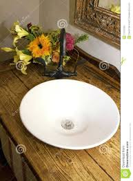 Vintage Sink Faucets Retro Bathroom Bowl Sink Faucet And Counter Royalty Free Stock Old