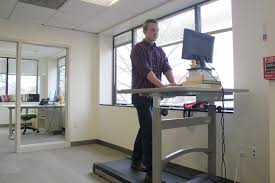 Standing Treadmill Desk by Treadmill Desk Etiquette 101 Wellness Corporate Solutions