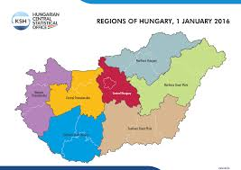 World Map Hungary by Hungarian Central Statistical Office