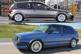 volkswagen hatchback 1995 honda civic vs vw gti the hatch showdown